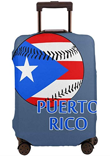 Puerto Rico Baseball Travel koffer beschermer bagage beschermende wasbare Rits Bagage Cover