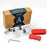 Kit de purga de frenos hidráulicos Sistema de frenos de aceite mineral embudo Set de herramientas de reparación de bicicletas Freno hidráulico