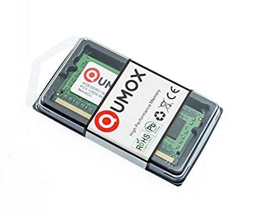 QUMOX RAM 4GB Memoria SO-DIMM PC3 DDR3 1600 4 GB PC3-12800 204pin CL11 para Ordenador portátil