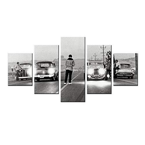 Xvhsx Impresiones sobre Lienzo Moderno HD Impreso Pintura Lienzo Decoración para El Hogar 5 Paneles Película Érase Una Vez En América Cartel Imágenes Modulares del Coche
