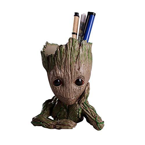 FYHX Blumentopf Baby Groot Blumentopf Action-Figuren Baum Mann Modell Spielzeug für Kinder Stifthalter Kreative Garten Pflanzer Topf
