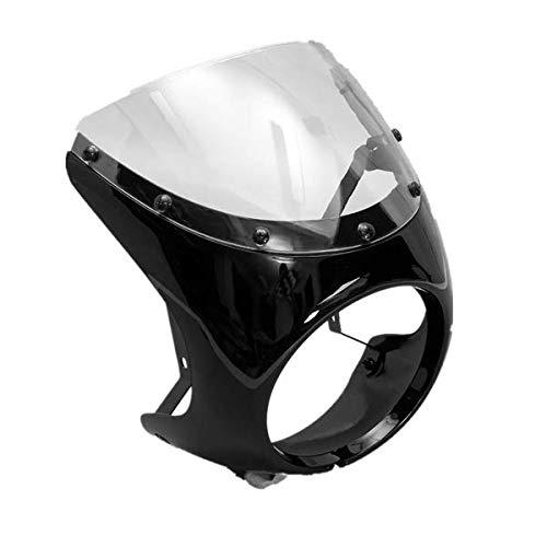 Wooya 7Inch De La Motocicleta Headlight Manillar del Carenado Retro Cafe Racer Estilo Universal-Negro Brillante