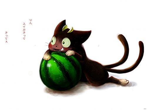 SV6301 Ao no Exorcist Blue Exorcist Kuro Cat Anime Manga Art 24x18 Print Poster
