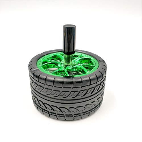 YHWW posacenere Creativo Pneumatici per auto Posacenere Cilindro Pressa Rotativa Decorazione di moda Posacenere per auto Posacenere per sigari Posacenere Vassoi Posacenere con coperchio, verde