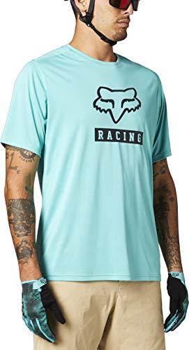 Fox Racing Herren Ranger Short Sleeve Jersey Block Hemd, blaugrün, Medium