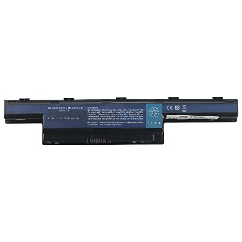 Bay Valley PartsNew Laptop Battery for Acer Aspire 4741 4741g 5741 5551 5552 5742z 575 AS10D3E AS10D41 AS10D51 AS10D61 AS10D71 AS10D73 AS10D75 AS10D81 AS10G3E Li-ion 9Cell 11.1v 7800mAh/86wh