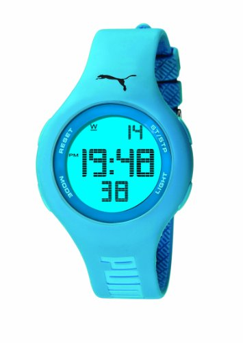 Puma Damen-Armbanduhr Digital Loop Neon Blue Quarz A.PU910801001