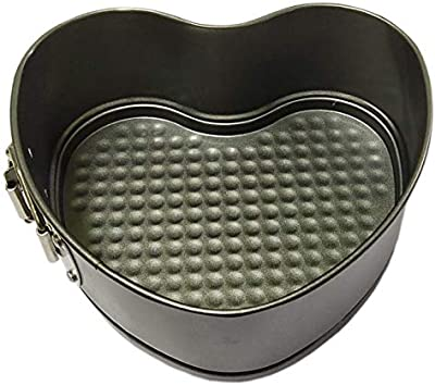 CooPany® Heart Shape 7 Inch Non Stick Teflon Coated Cake Mould/Non Stick Cake Tray/Cake Pans Small Size