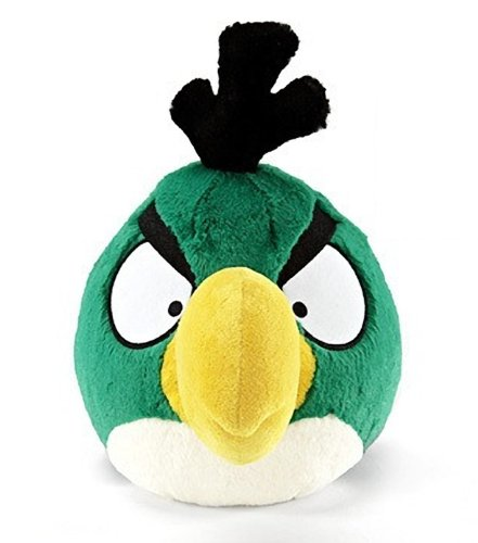 """Green Toucan: ~8"""" Angry Birds Plush w/ Sound Series"""