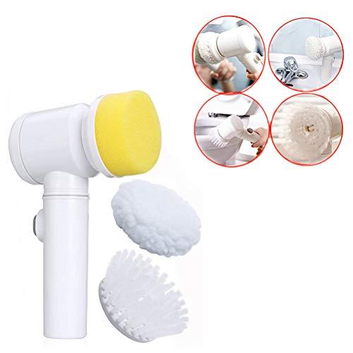 5 in 1 Magic Brush Nylon Bathtub Electric Multi-Functionele huishoudelijk gereedschap Bath Keuken Brush Glazenwasser Cleaner