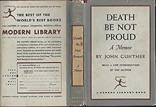 Death be not proud a memoir by john gunther 1953 modern library hardcover/dj