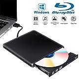 Tokenhigh Lettore Masterizzatore Dvd Blu Ray 3D, Blu Ray unità CD/Dvd Esterna, Esterno Portatile Ultra Sottile USB 3.0 CD Dvd RW Lettore Disco per Laptop/Desktop MacBook, Win 7/8/10