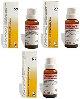 3 x Dr. Reckeweg - Homeopathic Medicine - R7 - Liver and Gallbladder Drops.