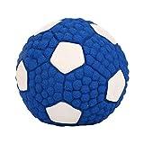 mecoco ペットおもちゃ 犬用噛むボール 音が出るボール ゴム製 ペットボール 玩具 大中小型犬対応 インタラクティブトレーニング用 耐久性 お留守番も寂しくない サッカーボール ワールドカップ