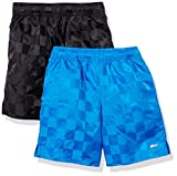 Amazon Essentials Kids Boys Active Performance Woven Soccer Shorts, 2-Pack Blue/Black, X-Small