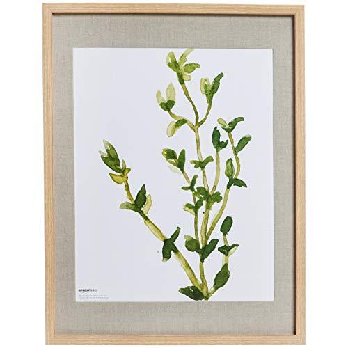 Amazon Basics - Marco de fotos de pared estilo galería, 48 x 64 cm, con hueco de 41 x 51 cm, efecto natural, 2 unidades