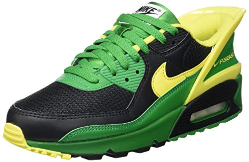 Nike Air MAX 90 FlyEase, Zapatillas para Correr Hombre, Black Yellow Strike Apple Green Black, 43 EU