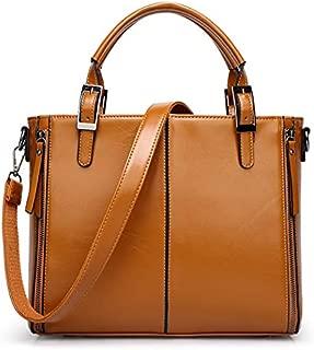 Woman Lady Single shoulder bag concise Handbag brown xdvb87