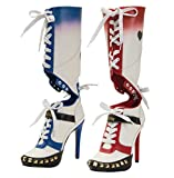 The Highest Heel unisex adult Suicide Squad Harley Quinn Fashion Boot, As Shown, 12 US