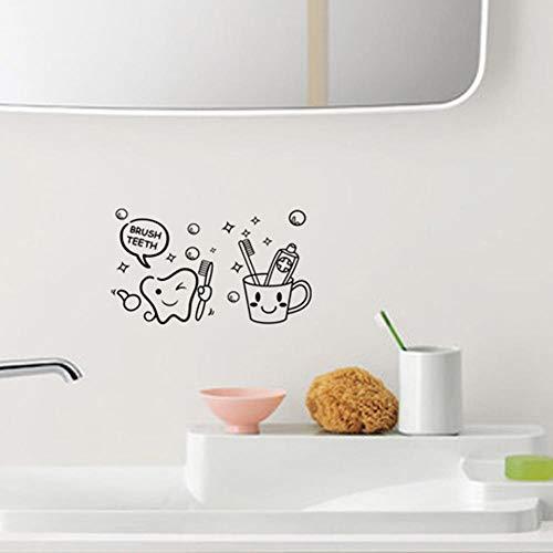 Tandenborstel Badkamer Toilet Achtergrond van Buitenlandse Muursticker Waterdicht Verwijderbare Pleister van Muur