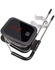 Inkbird IBT-2X Digitale Keuken Thermometer Bluetooth Barbecue Thermometer met 2 Sondes en Kook Timer Optie voor BBQ Koken Grillen Vlees Roken Oven