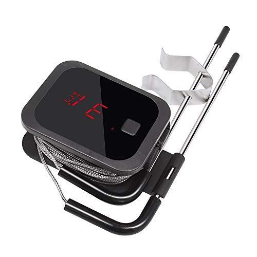 Inkbird Bluetooth 4.0 Grill IBT-2X Grill BBQ Kochthermometer Küche Fleischthermometer mit Temperaturalarm, Schwarz(IBT-2X+2 Sonden)