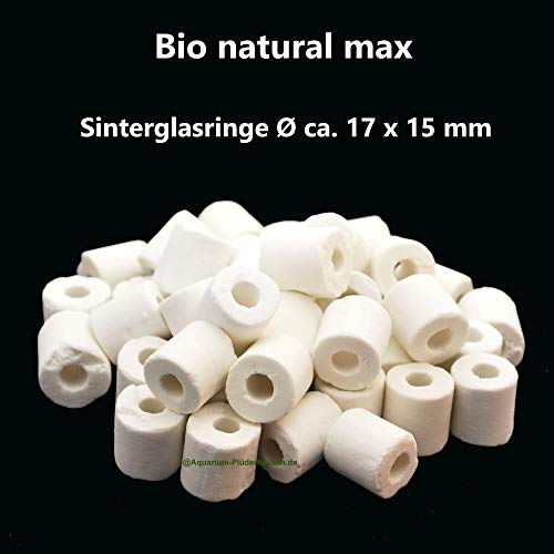 Aquarium Filterung Sinterglas,Filterröhrchen Ø17x15 mm,Bio Rings,Hochleistungsfiltermaterial, 700g
