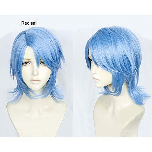 Kingdom Hearts 3 Peluca Aqua Cosplay Azul Corto Juego de roles Pelo sinttico para adultos
