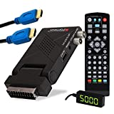 RED OPTICUM AX Lion 5 AIR DVB-T2 Receiver PVR inkl. HDMI-Kabel I DVB-T2 HD-Receiver mit Aufnahmefunktion - externer IR Sensor mit LED Display - SCART/HDMI - USB 2.0 I 12V Netzteil ideal für Camping