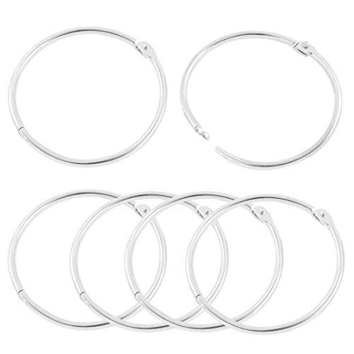 Metal Loose Leaf Binder Rings Key Rings -Copapa (2.5-inch)