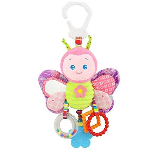 NLRHH Baby Beattles Toys Baby Cama Colgante Peluche Tranquido Juguete Bebé Agarre y, Sacudida ToywithSoundEsInCiseInfantesSensoryEnducción Peng (Color : Colorful)