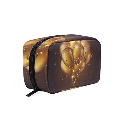 FANTAZIO Cosmetische Tassen voor Vrouwen Gouden Ballon Make Up Pouches