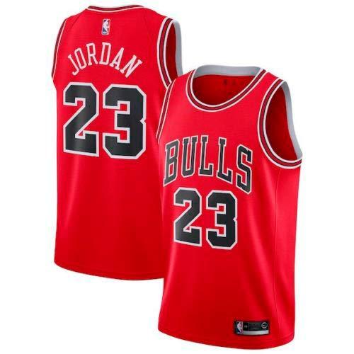 Zhao Xuan Trade Maglia da Uomo Jersey Bulls Vintage NBA Champion Michael Jordan Maglia Chicago Bulls # 23 Maglia da Basket Swingman Jersey (Rosso, M)