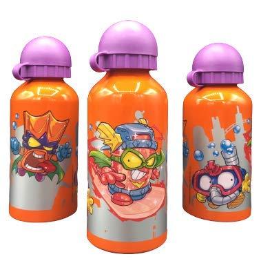 ML Una Botella de Agua de Aluminio, cantimplora térmica a Prueba de Fugas sin BPA para Levar a la Escuela y Deportes el Termo 400ml para niños y niñas (Naranja)