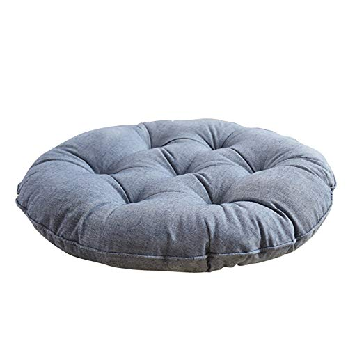DL&VE Round Solid Cotton Seat Cushions,Patio Floor Pillow Pad,Meditation Cushion For Yoga Sofa Tufted,Indoor Outdoor Cushion