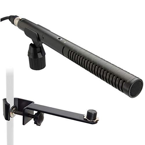 Rode NTG-2 - Micrófono direccional y carril de sujeción para micrófono