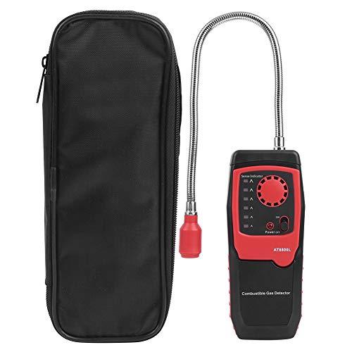 Gas Leak Detector,Combustible Gas Detector Leak Meter,Portable high‑Sensitivity Manual Adjust Gas Sniffer, Leakage Rate Indication