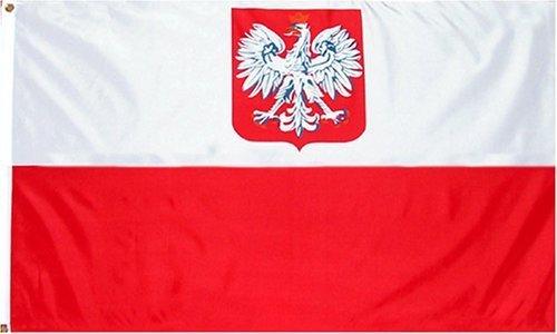 ANLEY Fly Breeze 3x5 Pé - Bandeira do Estado da Polônia - Cor vívida e resistente ao desbotamento UV - Cabeçalho de lona e costura dupla - Bandeiras de águia polonesas em poliéster com ilhós