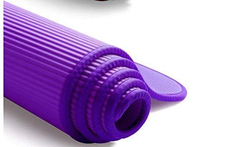 10MM Extra Dikke 183cmX61cm Non-slip Yoga Mats for fitness Smakeloos Pilates Gym Exercise Pads met pleisters, Zwart Praktische yogamat. (Color : Purple)