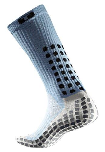 TruSox Mid Calf Cushion Socken Hellblau Schwarz