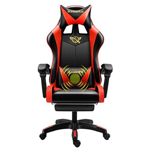 Preisvergleich Produktbild GAOPANG Drehstuhl Gaming-Stühle Computerspielstuhl Ergonomischer Verstellbarer Rennstuhl Schreibtischstuhl mit Kopfstütze und Lordosenstütze