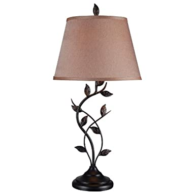 Kenroy Home 32239ORB Ashlen Table Lamp, 30  x 15  x 15 , Oil Rubbed Bronze Finish