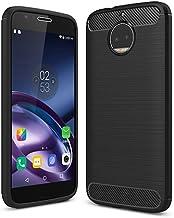 ZAPCASE Back Cover Case Compatible for Motorola Moto G5s Plus Motorola Moto G5s Plus Cases Covers Carbon Fibre Rugged Armour Black Colour