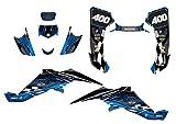 Suzuki LTZ 400 Graphics Decal Kit Fits 2003-2008 Design #3500 (Blue)