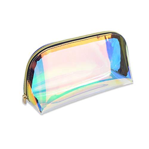 Trousse de toilette holographique transparente étanche pour femme