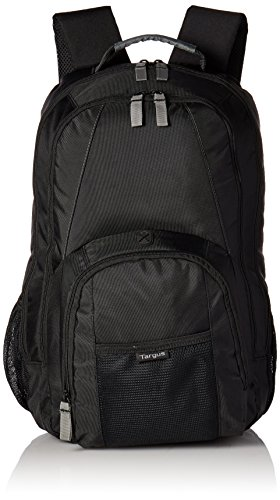 Targus Groove Professional Business Laptop Backpack with Padded Compartment, Durable PVC Resistant Material, Front and Side Pouch Pockets, Protective Sleeve fits for 17-Inch Laptop, Black (CVR617)