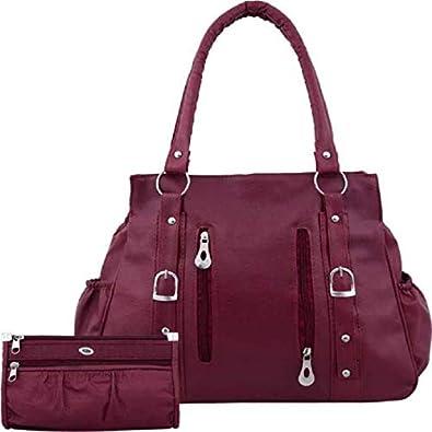 Bellina ® Women's synthetic Handbag in Premium maroon color Shoulder bag and wallet