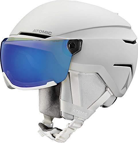 Atomic Savor Visor Stereo Helm, Erwachsene, Unisex, Weiß Heather (Weiß), 51/55 cm