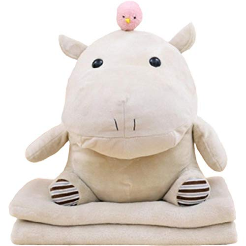 Manta de peluche con forma de muñeca hippo, doble uso, juguete de peluche