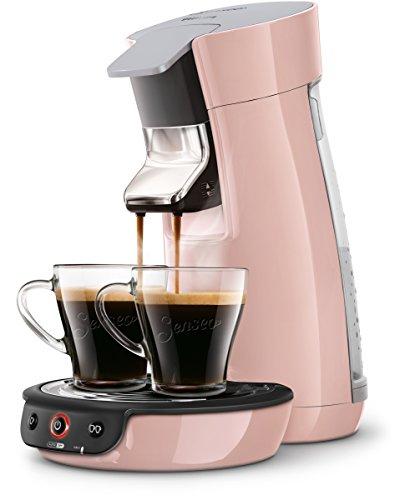 Senseo Viva Café HD7829/30 - Cafetera (Independiente, Máquina de café en cápsulas, 0,9 L, Dosis de café, 1450 W, Rosa)